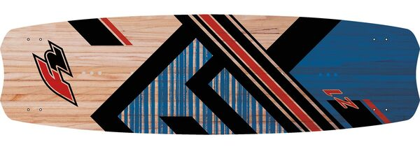 kiteboard_Z1_wood_blue_top_graphic